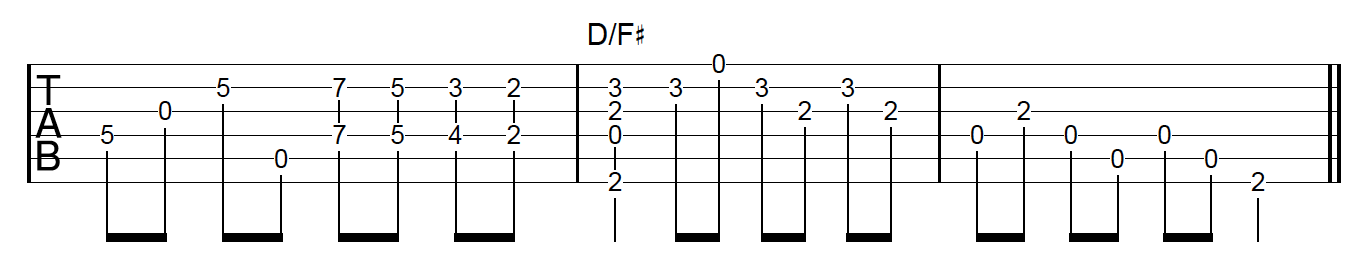 6th Harmony Fingerpicking Guitar MC Example 2