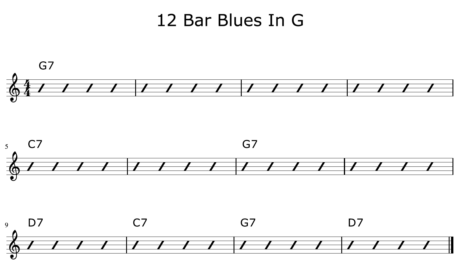 12 Bar Blues Progression