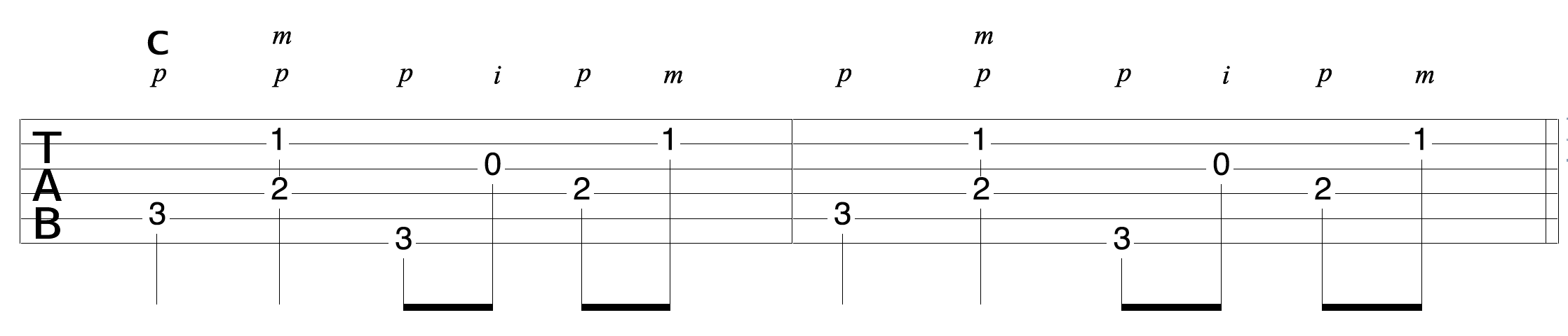 Clawhammer-Fingerpick-Variation-Example