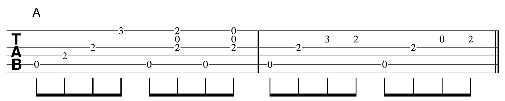 Creative Guitar Chord Example 1