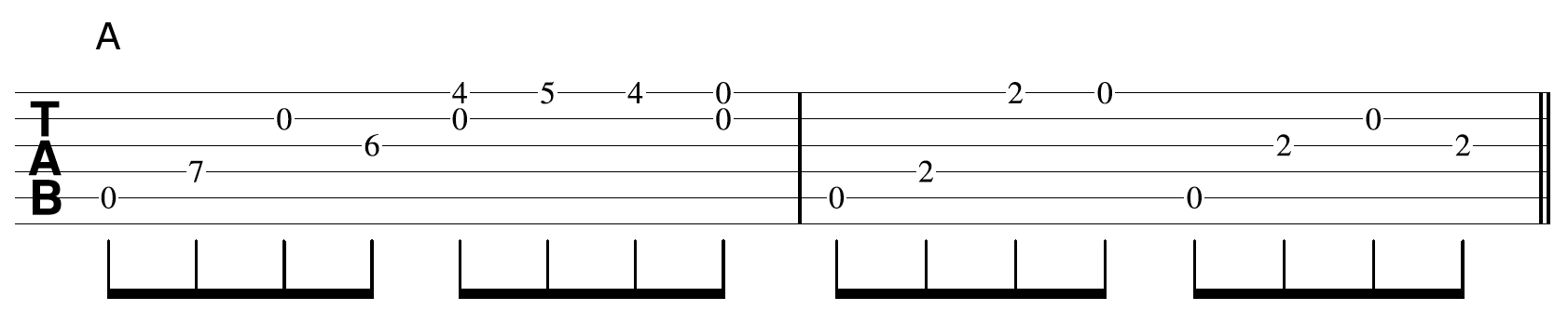 Creative Guitar Chord Example 4