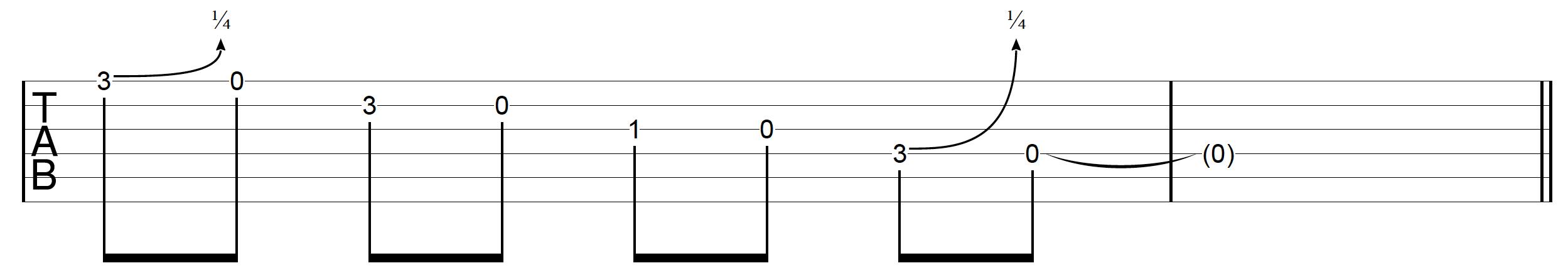 DADGAD Guitar Blues Lick 1