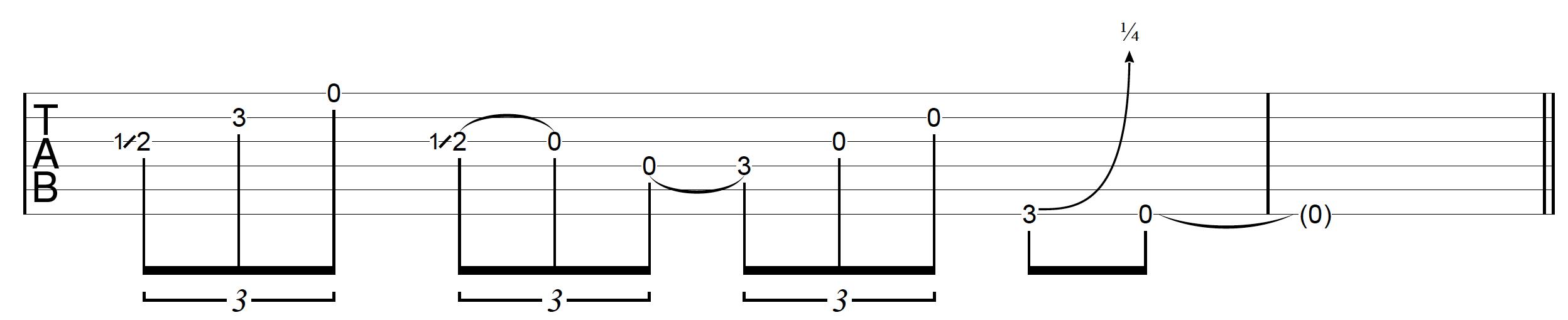 DADGAD Guitar Blues Lick 2