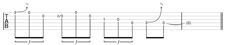 DADGAD Guitar Blues Lick 3