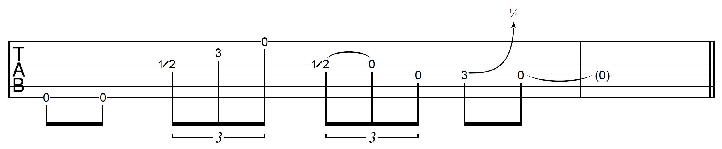 DADGAD Guitar Blues Drone Lick 4