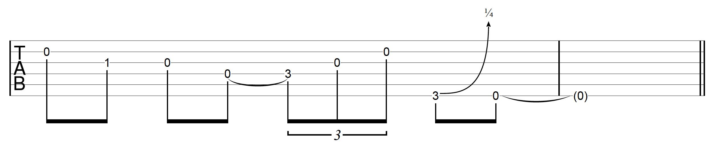 DADGAD Guitar Blues Lick 4