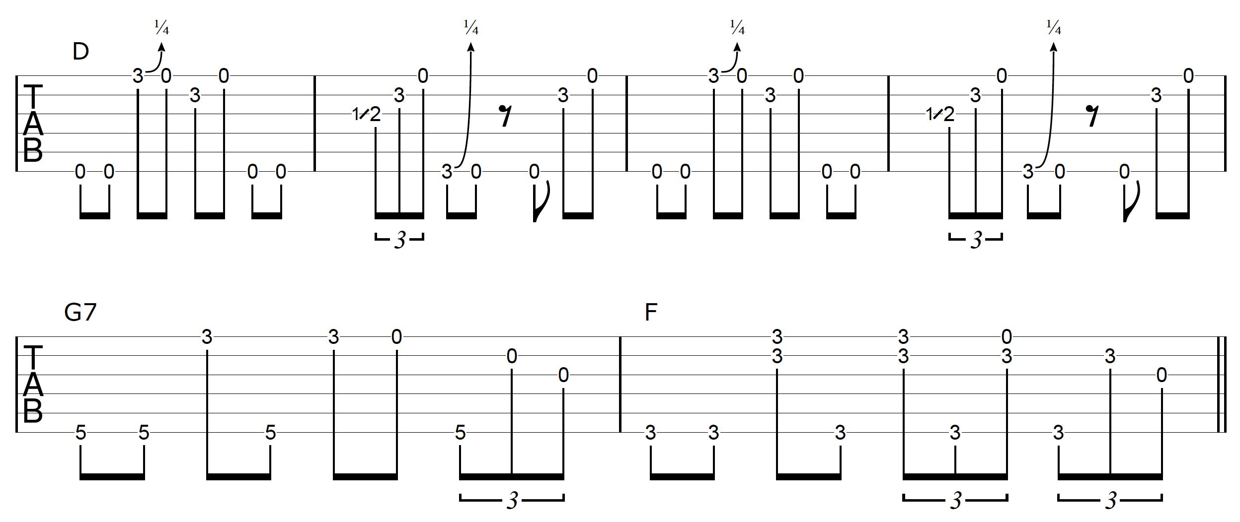 DADGAD Guitar Blues Example 1