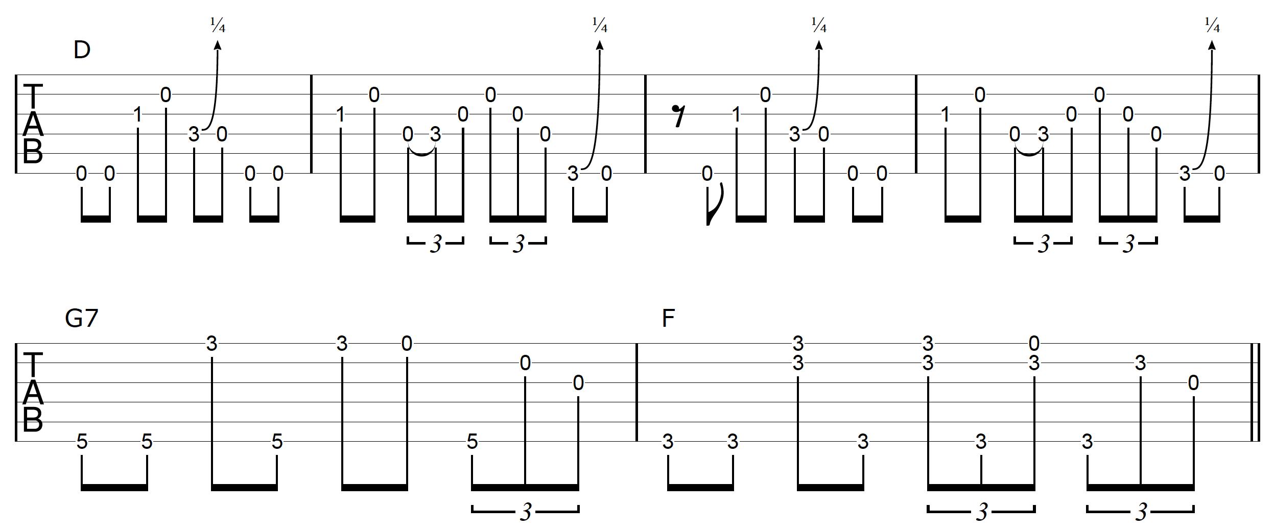 DADGAD Guitar Blues Example 2