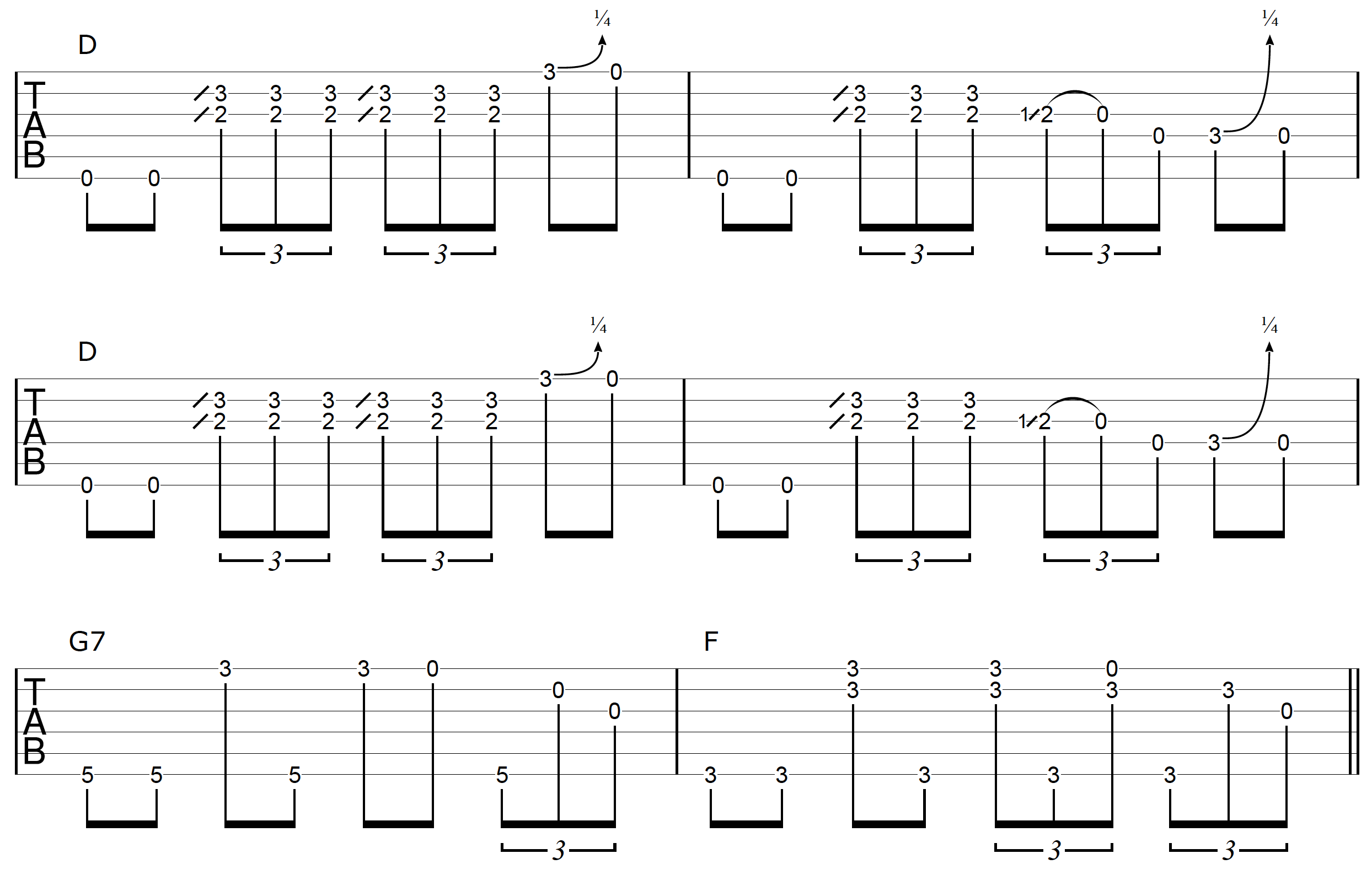 DADGAD Guitar Blues Example 3-1