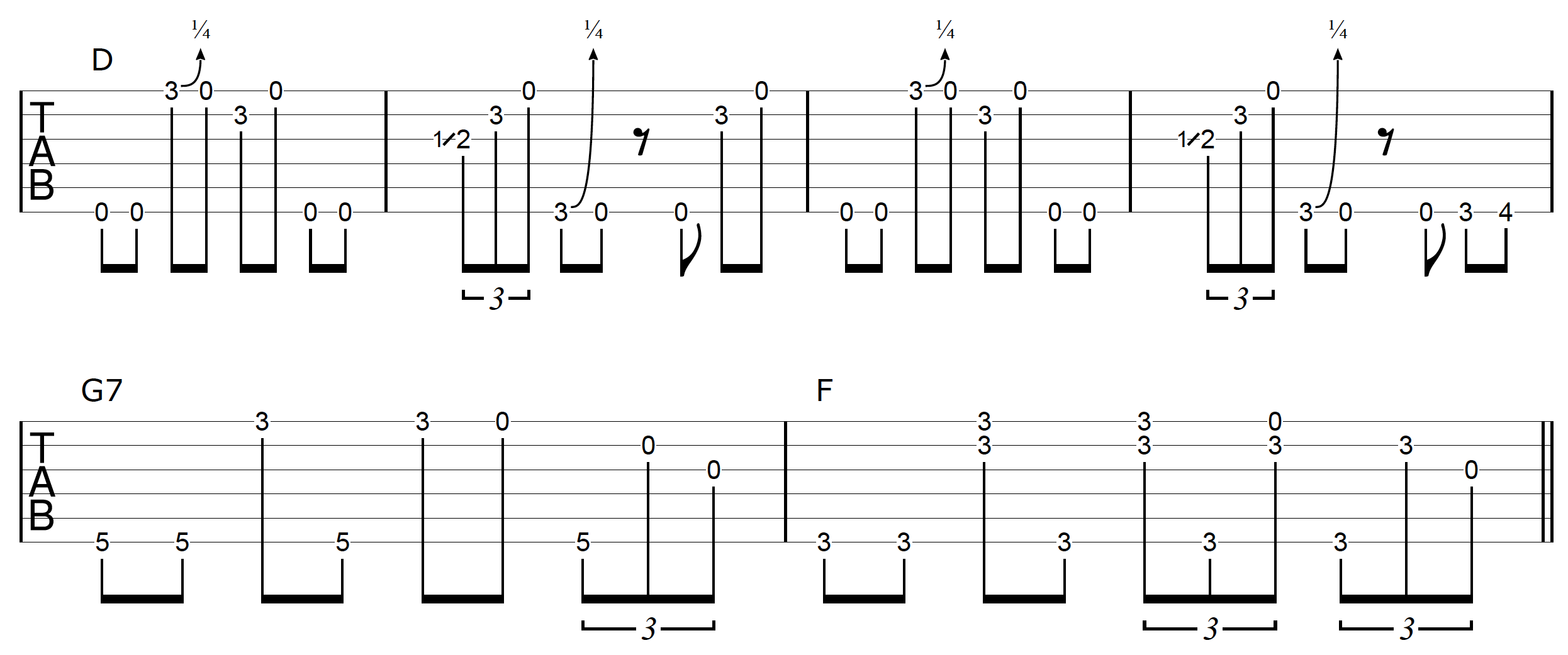 DADGAD Guitar Blues Example 3-2