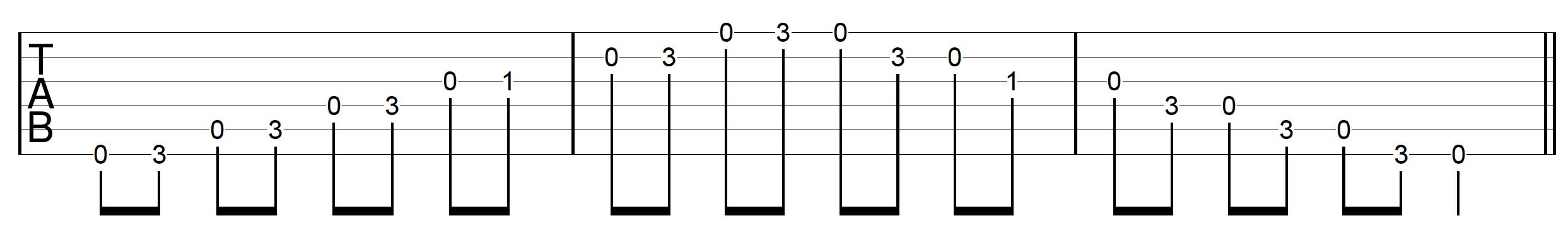 DADGAD Guitar Blues Scale