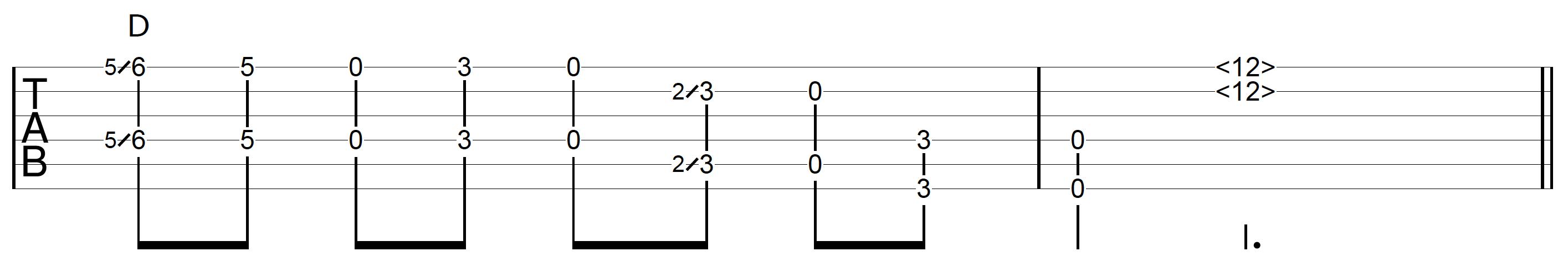DADGAD Tuning Guitar Octave Riff 1