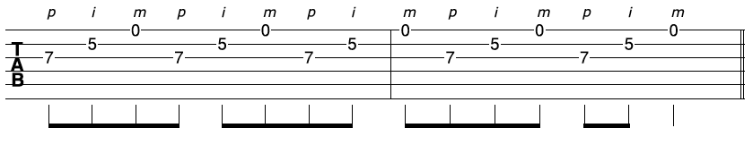 Fast Fingerpicking Solo Riff 3a