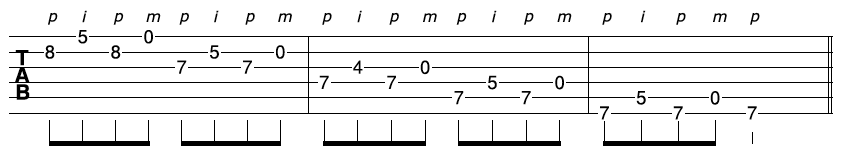 Fast Guitar Sequence 1-1