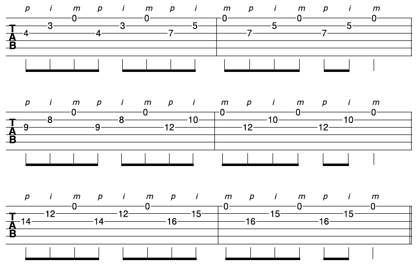 Fast Guitar Sequence 3-2