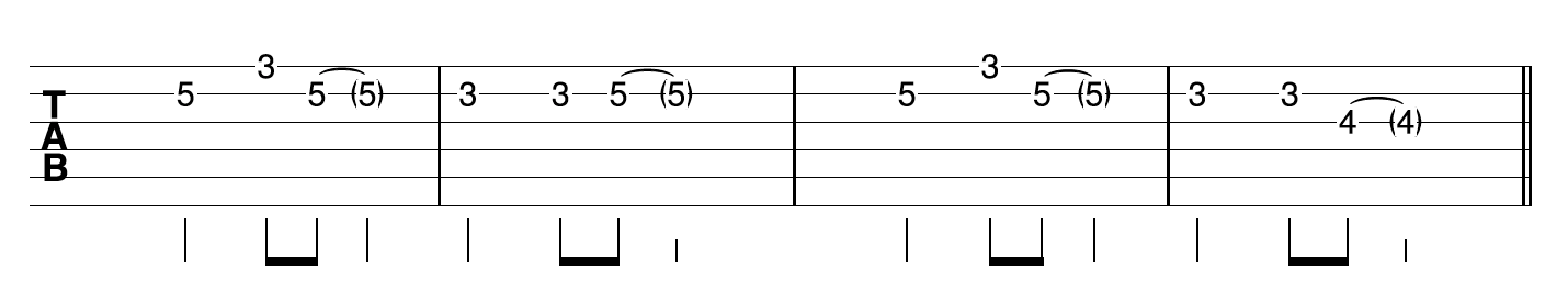 Fingerpicking Blues Guitar Riff 1