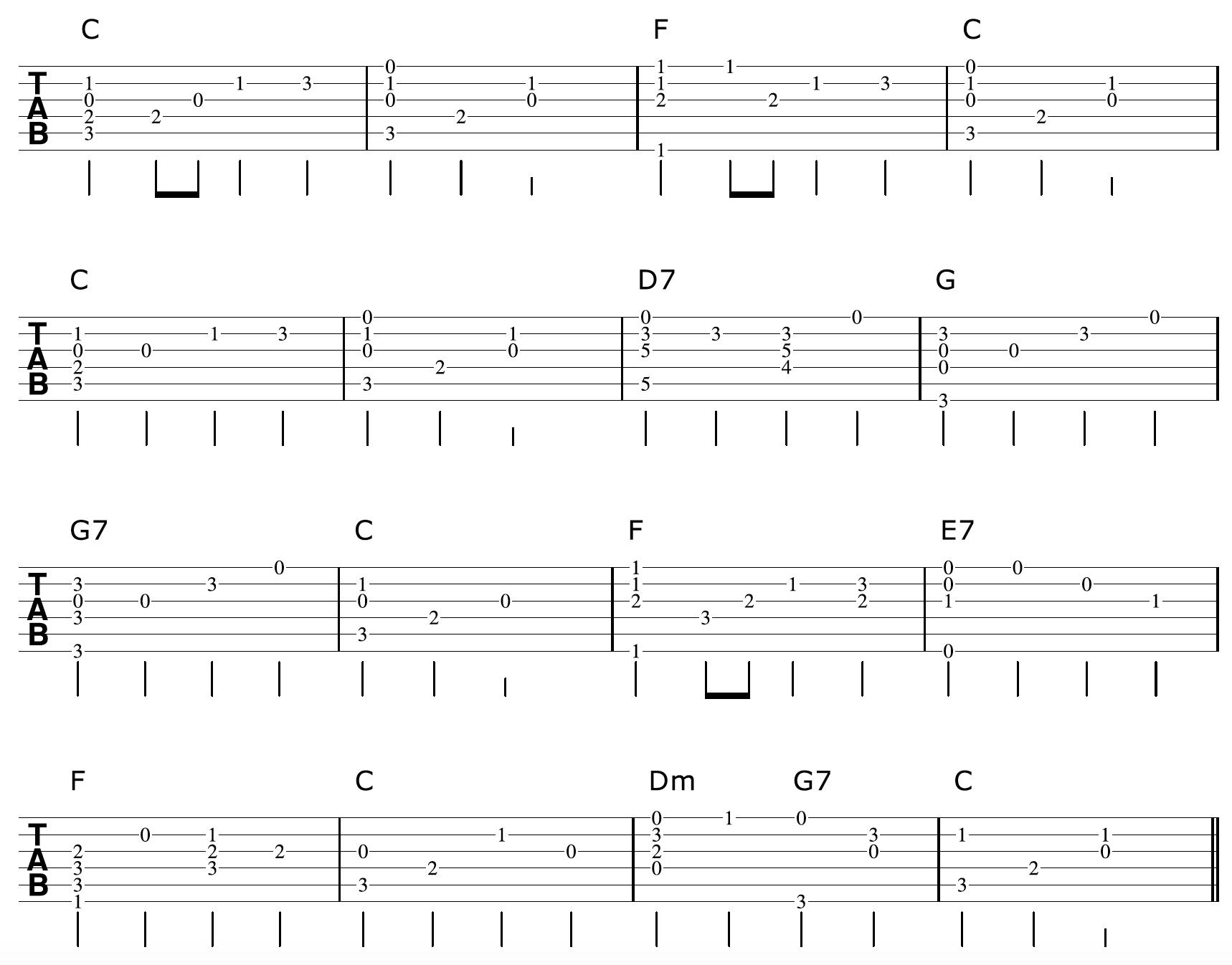 Fingerpicking Guitar Arrangement