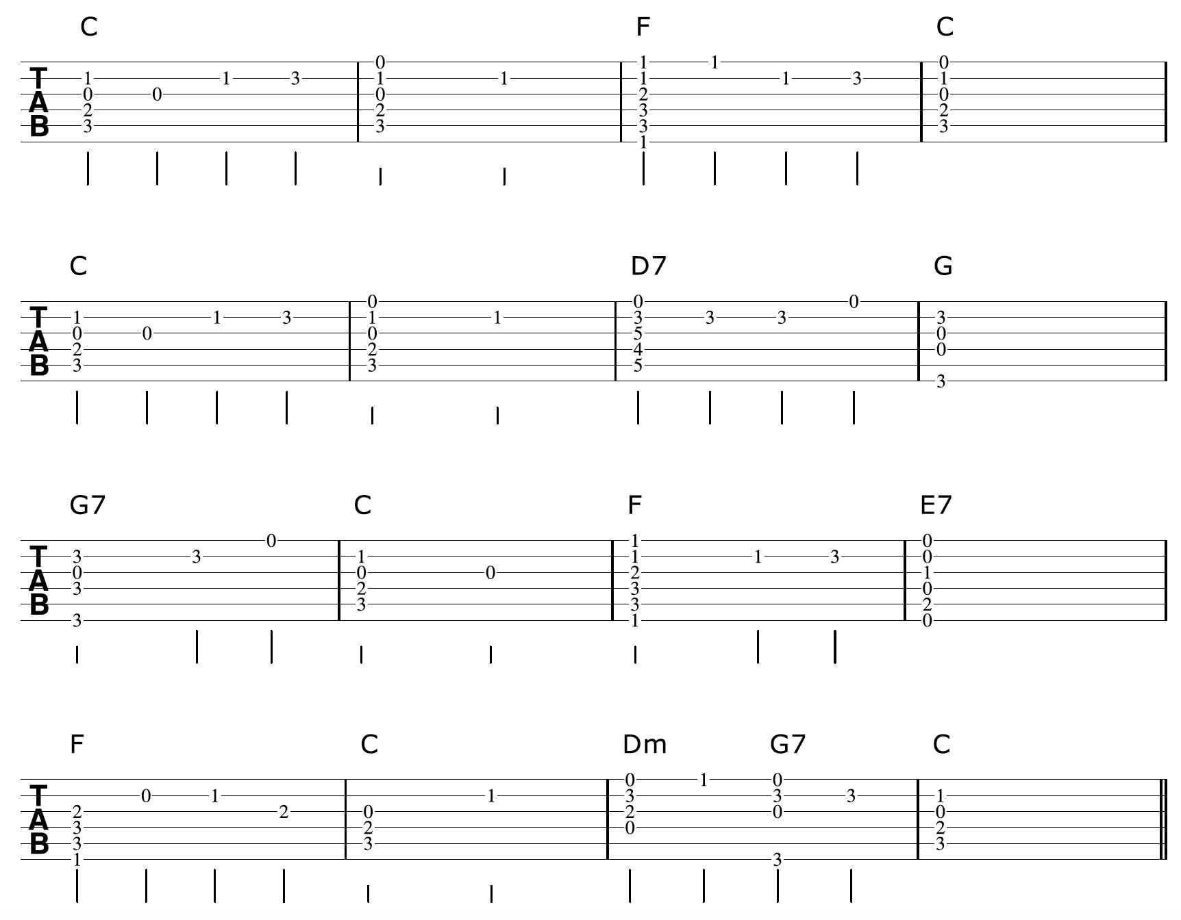 Fingerpicking Guitar Arrangement Chords And Melody