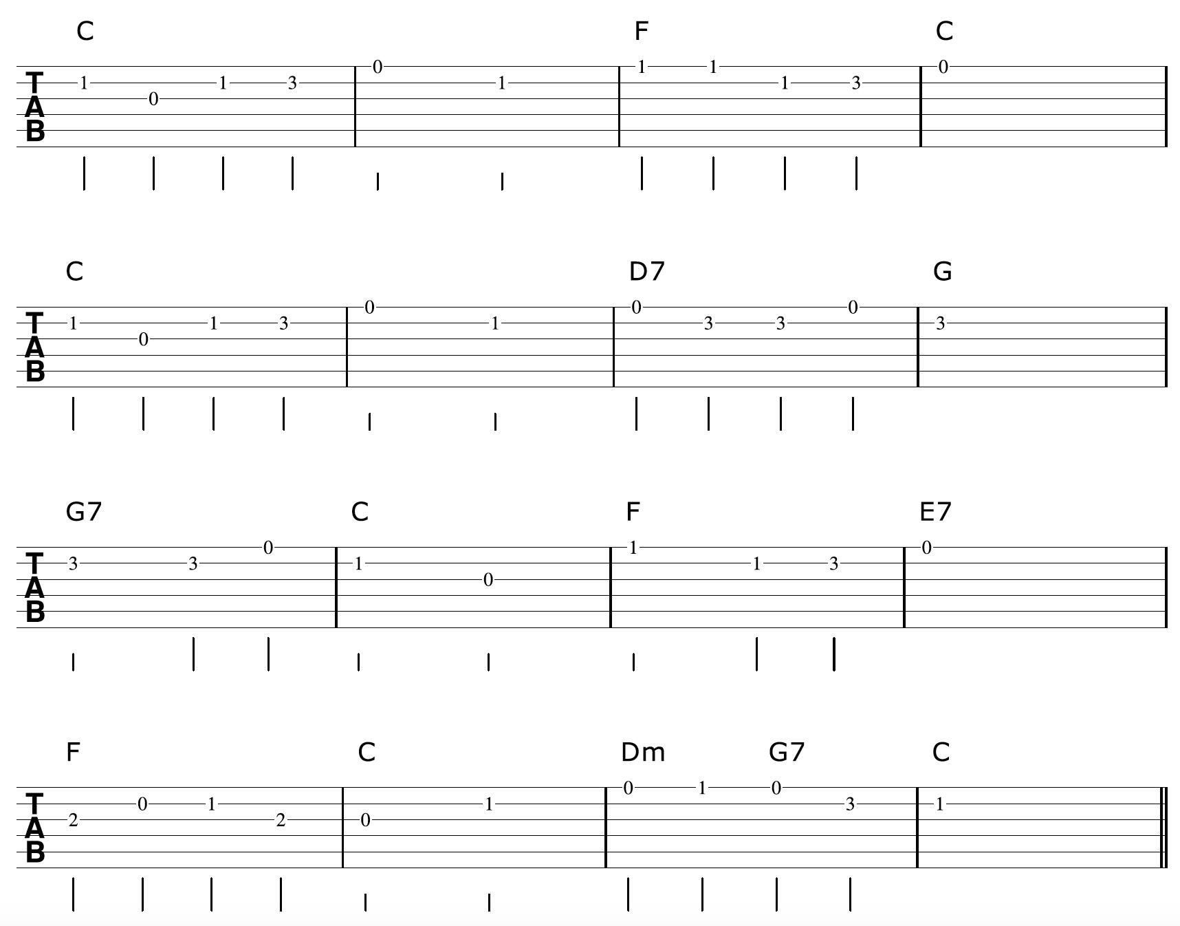Fingerpicking-Guitar-Arrangement-Melody