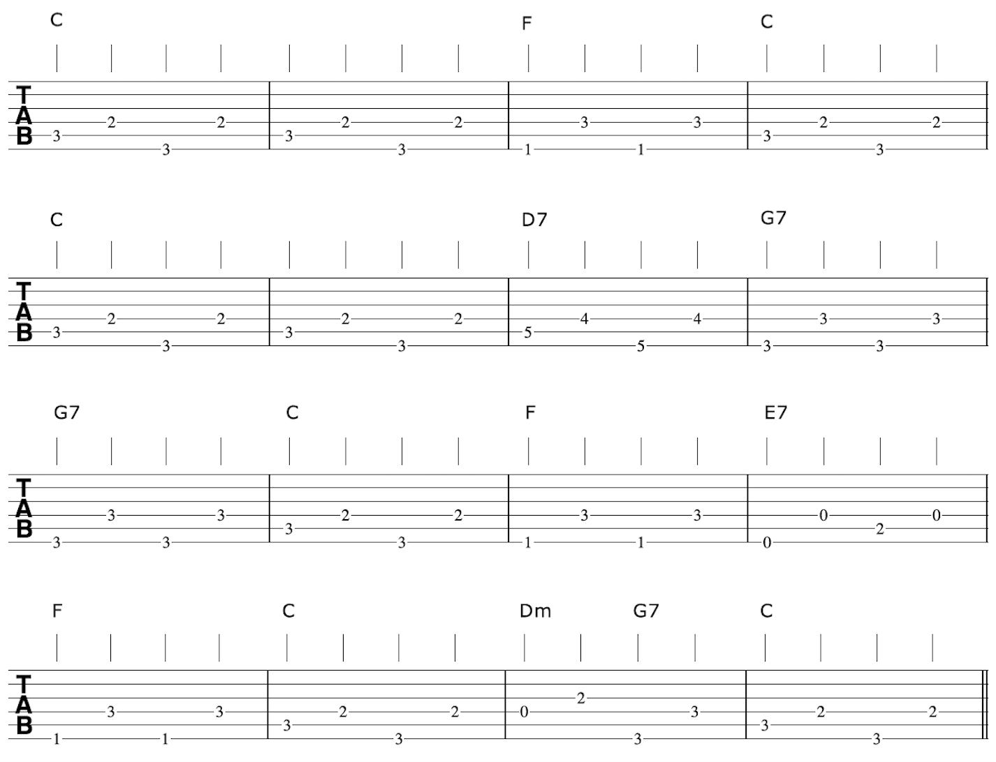 Travispicking Guitar Arrangement Bass