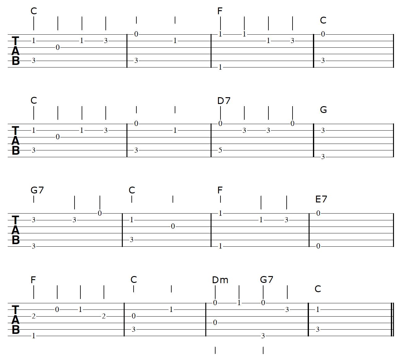 Fingerstyle Guitar Arrangement Bass