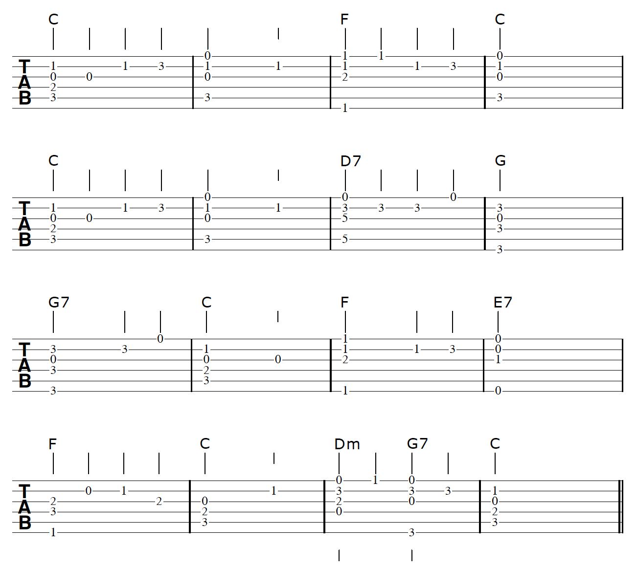 Fingerstyle Guitar Arrangement Chords