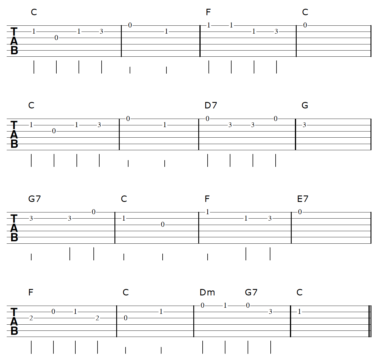 Fingerstyle Guitar Arrangement Chords And Melody