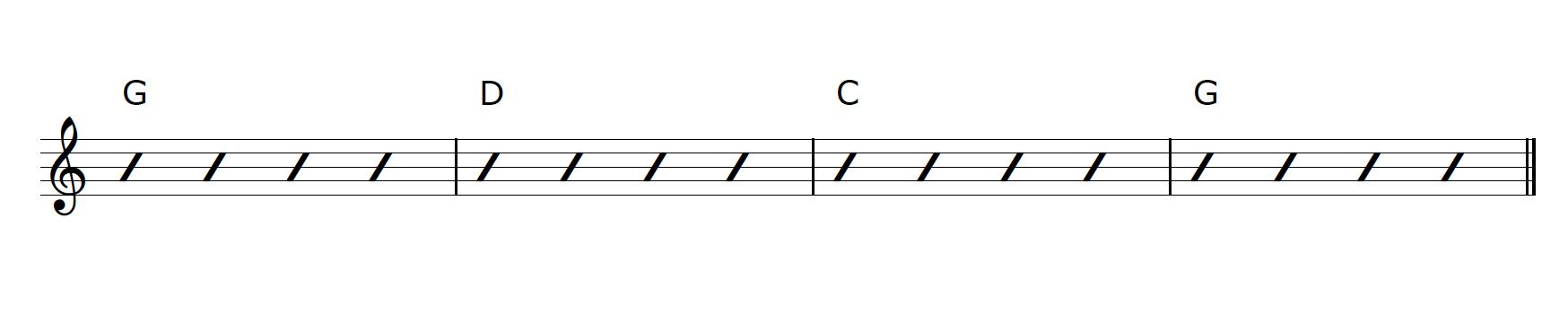 Guitar Capo G Major Progression