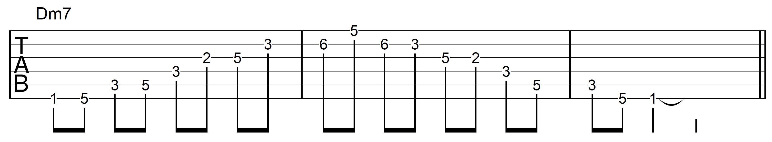 Guitar Arpeggio Dm7 Asc Desc