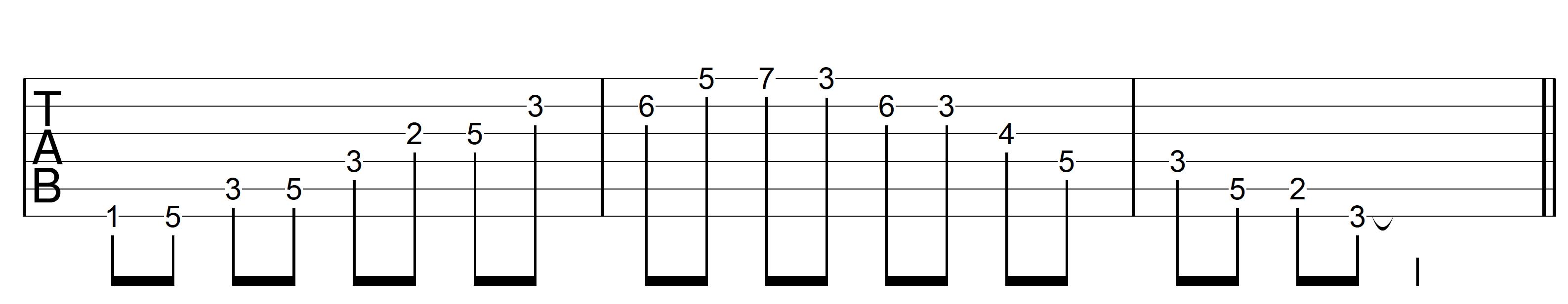 Guitar Arpeggio Dm7 Asc G7 Desc