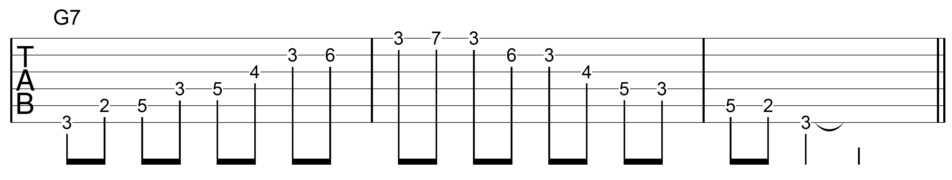 Guitar Arpeggio G7 Asc Desc