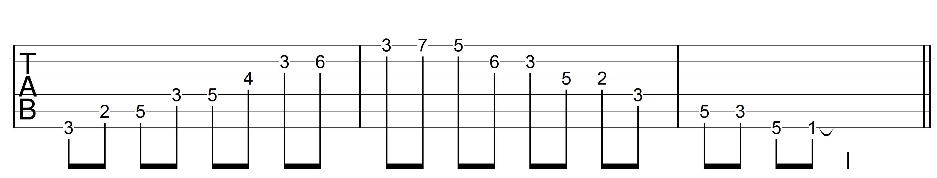 Guitar Arpeggio G7 Asc Dm7 Desc