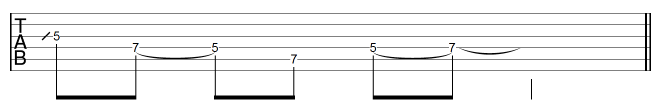 Guitar Riff Workout Phrasing Variation 1