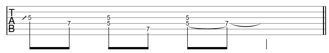 Guitar Riff Workout Phrasing Variation 3