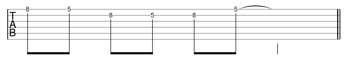 Guitar Riff Workout Position 1