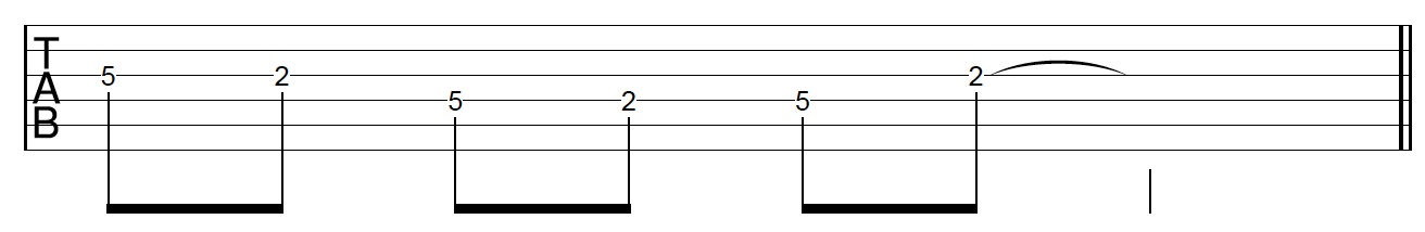 Guitar Riff Workout Position 2