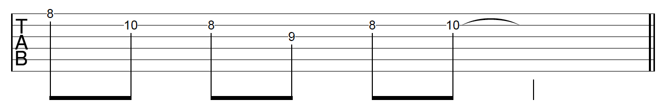 Guitar Riff Workout Position 3