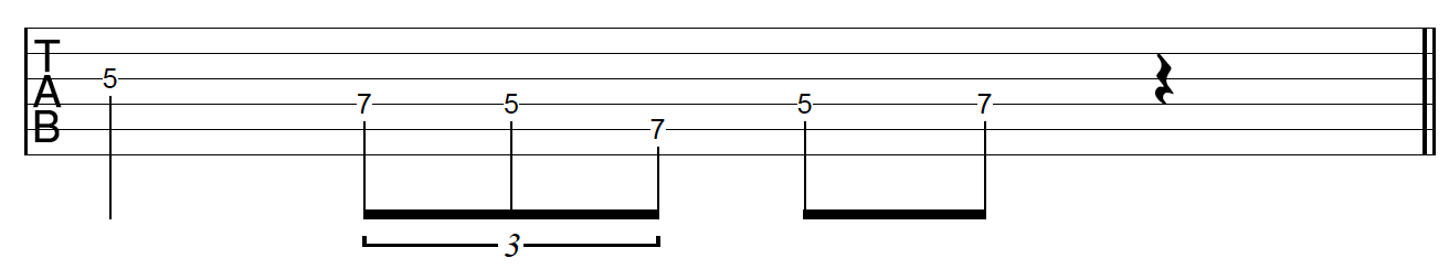 Guitar Riff Workout Rhythmic Variation 2