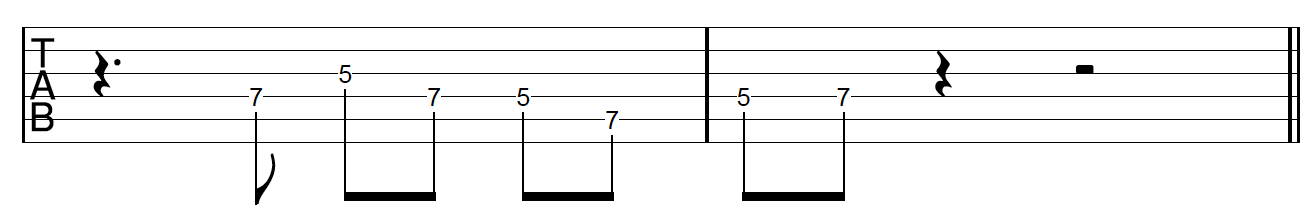 Guitar Riff Workout Rhythmic Variation 3