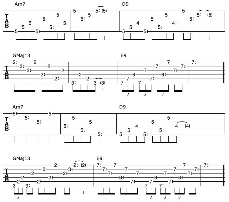 Harp Harmonic Arpeggio Progression