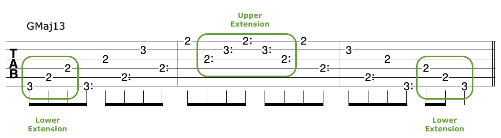 Harp Harmonic Arpeggio Extension GMaj13