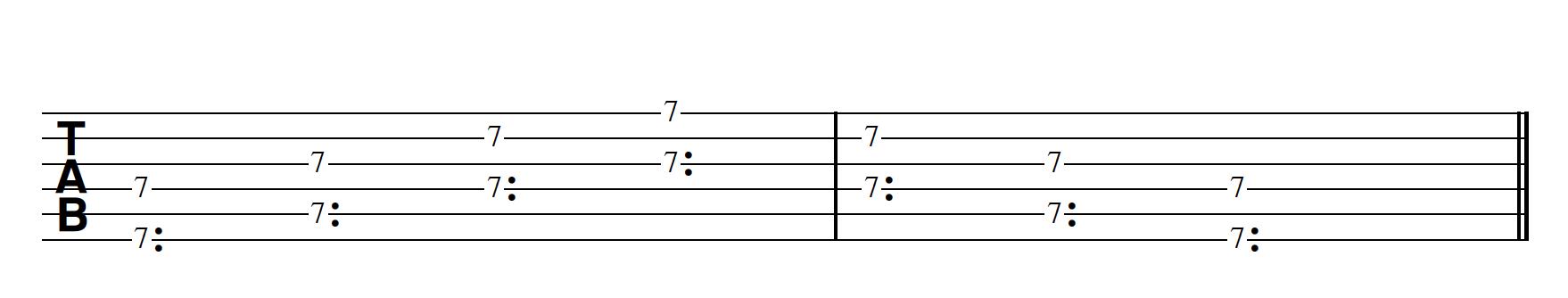 Harp Harmonic Pattern 2 Notes Together Bm7/11