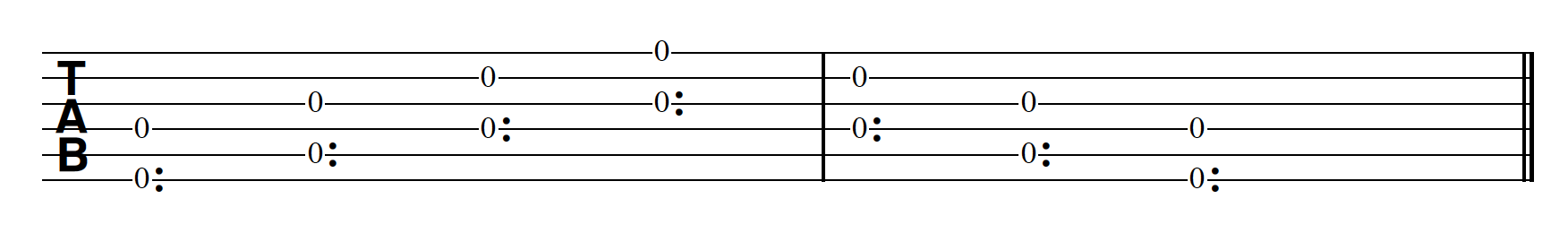 Harp Harmonic Pattern 2 Notes Together