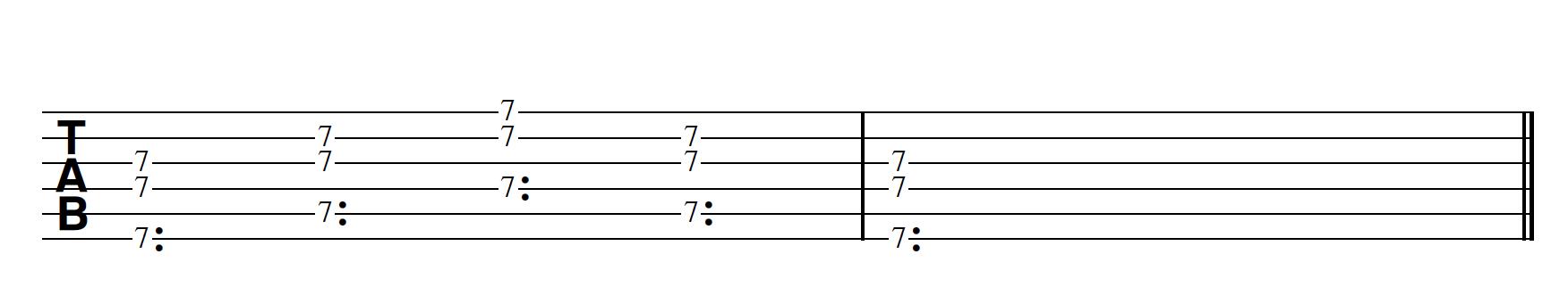 Harp Harmonic Pattern 3 Notes Together Bm7/11