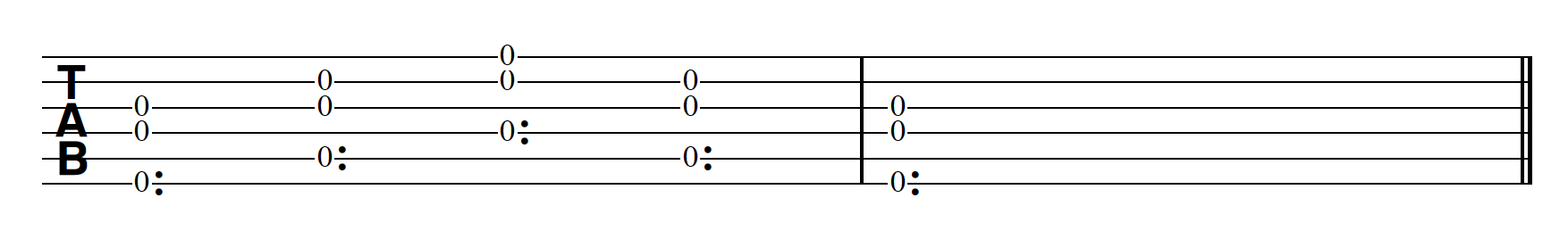 Harp Harmonic Pattern 3 Notes Together