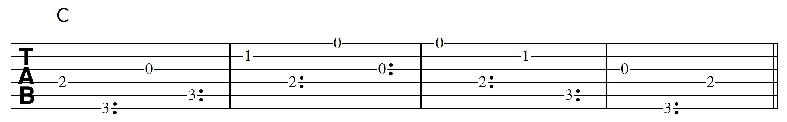 Harp Harmonic Pattern C Chord