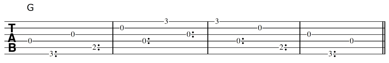 Harp Harmonic Pattern G Chord