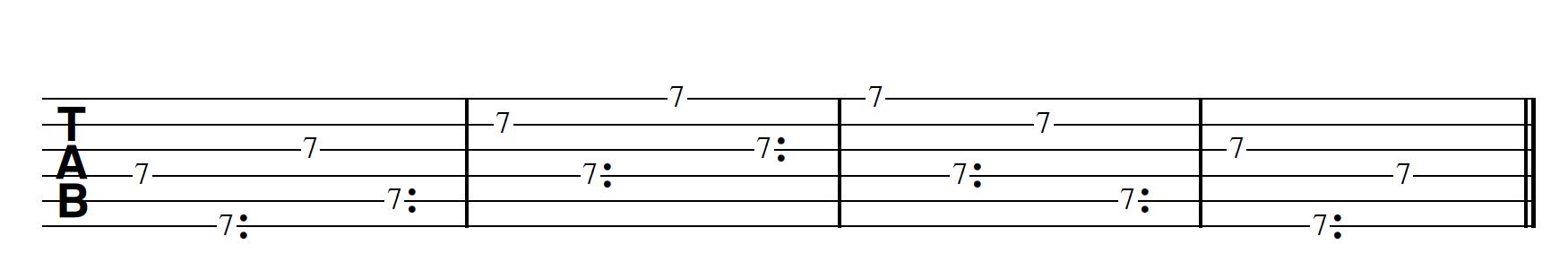 Harp Harmonic Pattern Regular Note First Bm7/11