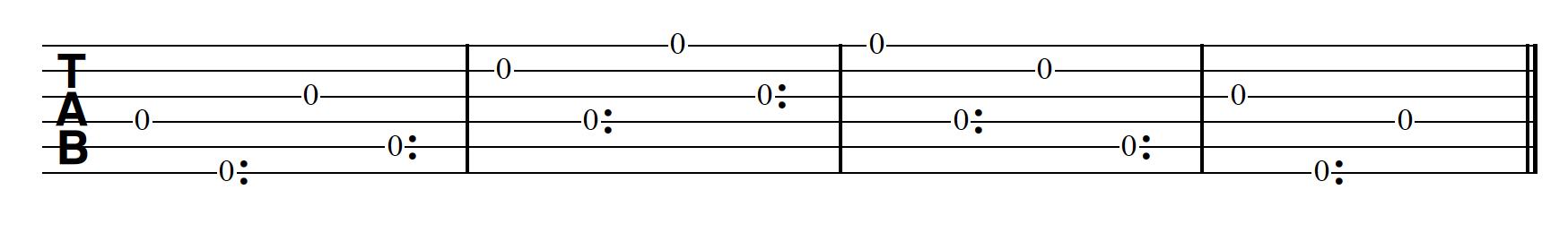 Harp Harmonic Pattern Regular Note First