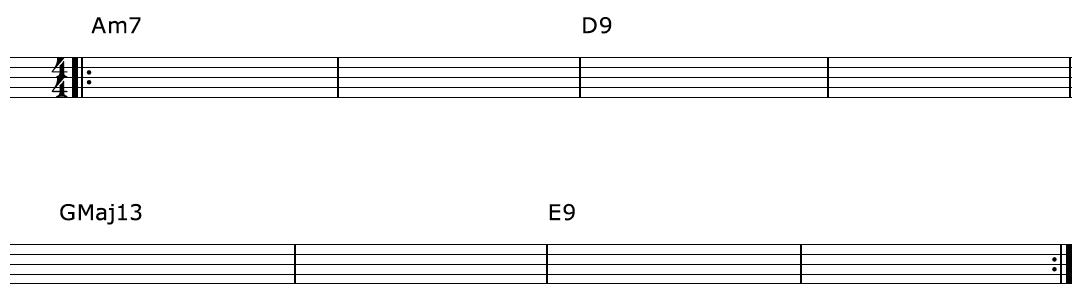 Harp Harmonic Chord Progresson